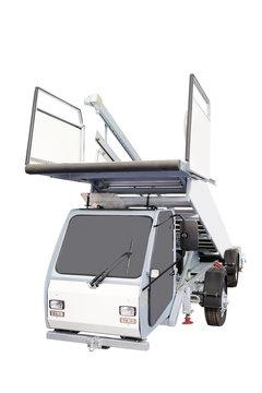Airfield self-propelled passenger ladder