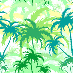 palm trees,seamless background