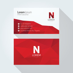 N Letter Logo Abstract Polygonal Background Business card