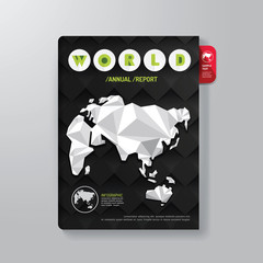 Cover Book Digital Design Minimal Style Template / can be used f