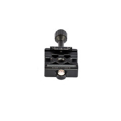 Camera plate for tripod ball head isolated on white background