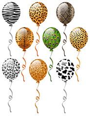 Animal patterns balloons