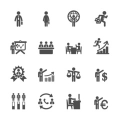 human resource management icon set 6, vector eps10