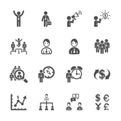 finance and human resource icon set, vector eps10
