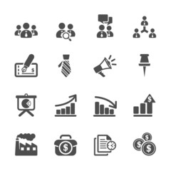 business and management icon set 9, vector eps10