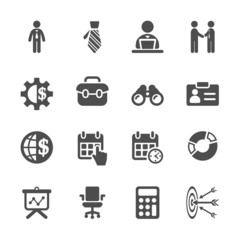 business icon set, vector eps10