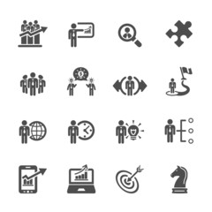 business and strategy icon set 3, vector eps10