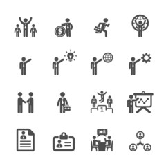 business and management icon set 5, vector eps10