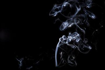 smoke isolated on back background
