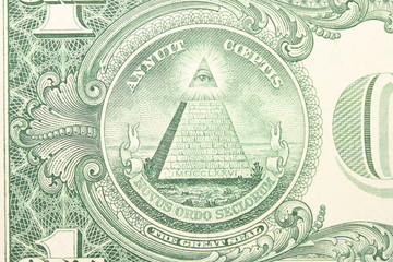 Great Seal of the U.S. from back dollar bill.