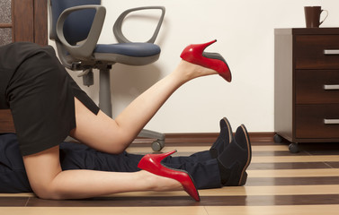 Flirting in an office