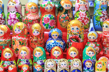 colorful dolls