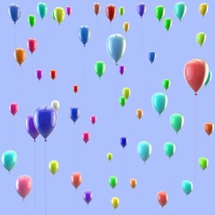 Texture of colorful balloons. Isolated background