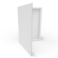 Open white blank box