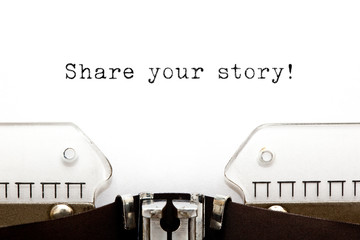 Share Your Story Typewriter