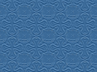 Retro wallpaper pattern in blue