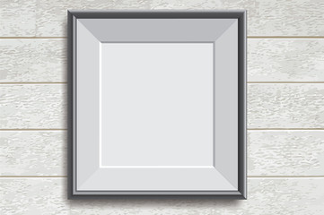 Realistic picture frame vector illustration background