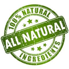 All natural ingredients stamp