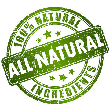 All natural ingredients stamp