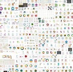 Vector abstract company logos mega collection