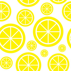 Lemon Fruit Abstract Seamless Pattern Background Vector Illustra