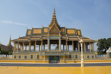 Sights in Cambodia -Travel Asia - Royal Temple in Phnom Penh