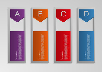Vector illustration infographic rectangles