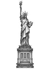statue of liberty logo design template. America or United States icon.