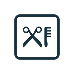 barbershop icon Rounded squares button.