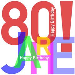 Geburtstag Happy Birthday #15022-02