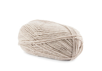 Beige wool yarn ball