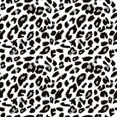 Leopard skin pattern. Vector version.