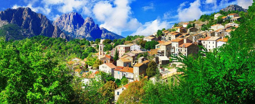 Evisa - beautiful mountain village in Corsica