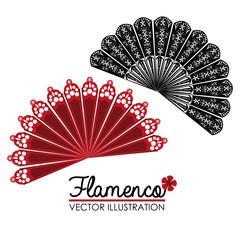 Flamenco design, vector illustration.