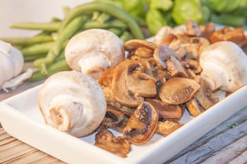 Fried champignon