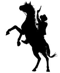 Horseback cowboy
