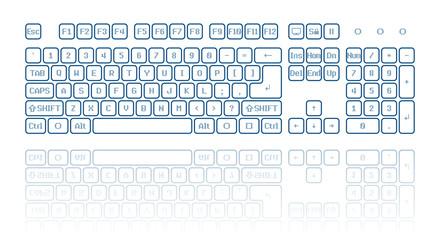 Virtual keyboard Wall mural