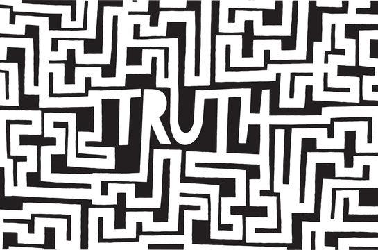 Complex truth as an intrincated maze