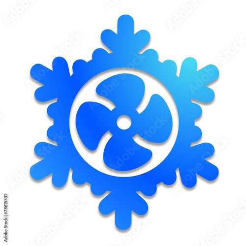 Logo Climatisation Ventilation Froid Frais Flocon