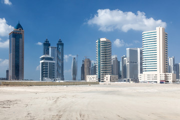 Skyscrapers in the city of Dubai, United Arab Emirates