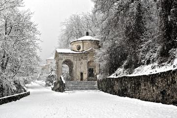 Sacred Way in winter season