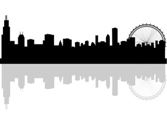 chicago skyline silhouette photos royalty free images graphics