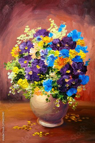 Живопись цветы в вазе