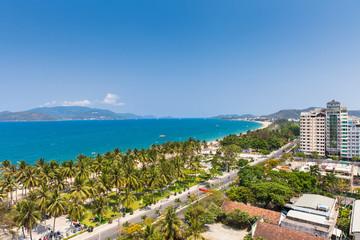 Aerial view over Nha Trang city, Vietnam