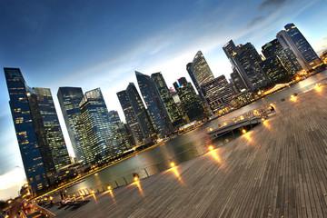 Foto op Plexiglas Singapore evening in Singapore