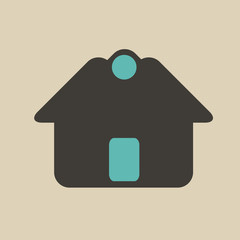 Vintage House Real Estate icon logo design