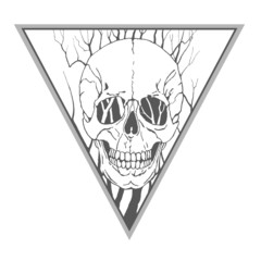 Skull with branches