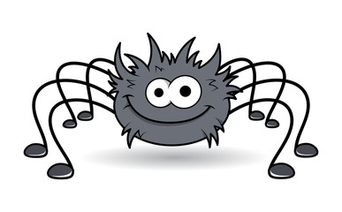 Happy Rockstar Spider - Halloween Vector Illustration