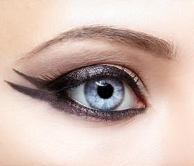 Closeup eye-zone make-up