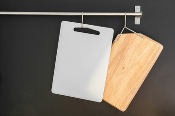 cutting Board plastic and wood hanging